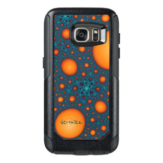Orange bubbles OtterBox samsung galaxy s7 case