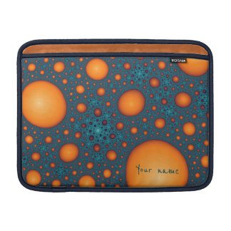 Orange bubbles sleeve for MacBook air