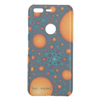 Orange bubbles uncommon google pixel case