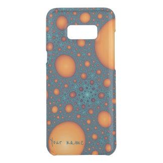Orange bubbles uncommon samsung galaxy s8 plus case