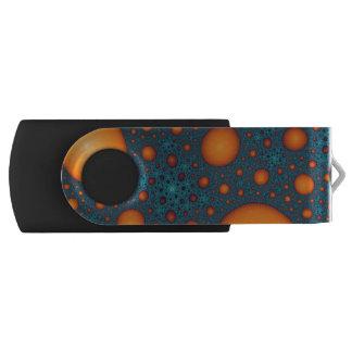 Orange bubbles USB flash drive