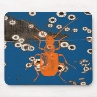 Orange Bug Mouse Pad
