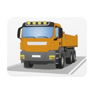 orange building sites truck rectangular photo magnet