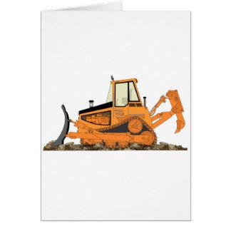Orange Bulldozer Card