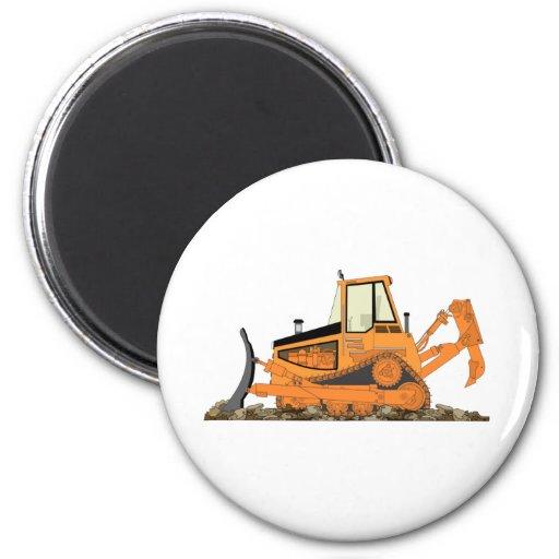 Orange Bulldozer Magnet