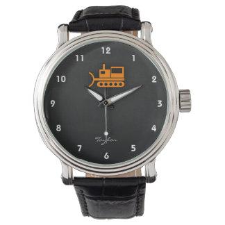 Orange Bulldozer Watch