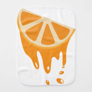 Orange Burp Cloth