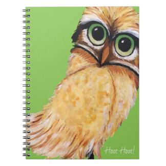 Orange Burrowing Owl Notebook