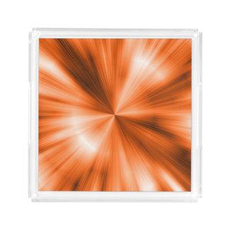 Orange Burst Acrylic Tray