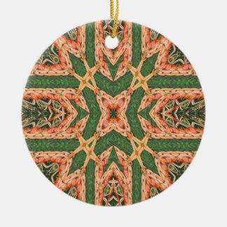 Orange burst ornament