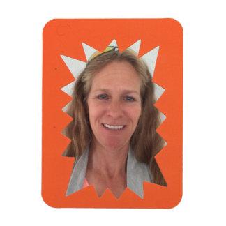 Orange Burst Photo Frame Magnet