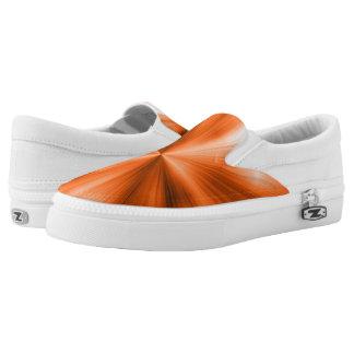 Orange Burst Slip-On Sneakers
