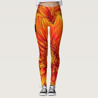 Orange Burst Yoga Pants/Leggings Leggings