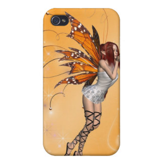 Orange Butterfaly Fairy  iPhone 4/4S Case