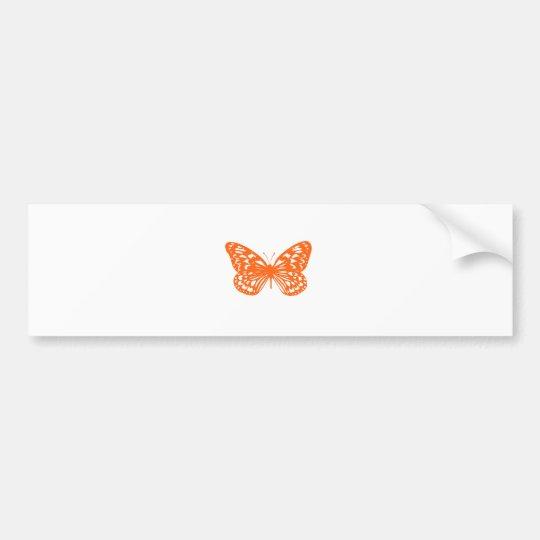 Orange Butterfly Bumper Sticker