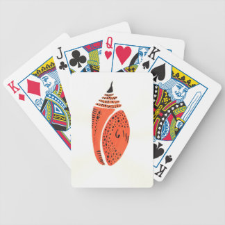 Orange Butterfly Cocoon Bicycle Playing Cards