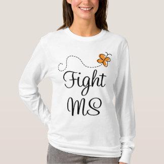 Orange Butterfly Fight MS Tee