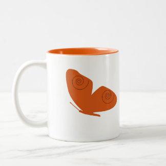 Orange Butterfly, fish mug