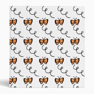 Orange Butterfly Flight 3 Ring Binder