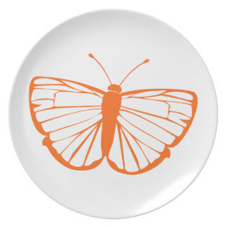 Orange Butterfly Party Plate