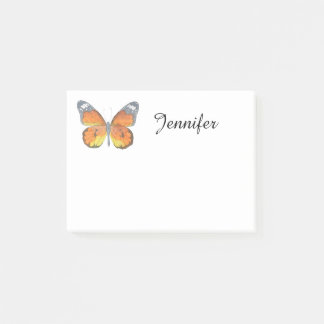 Orange Butterfly Post-it Notes