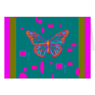Orange Butterfly, Teal ,Fuchsia Gifts by Sharles Card