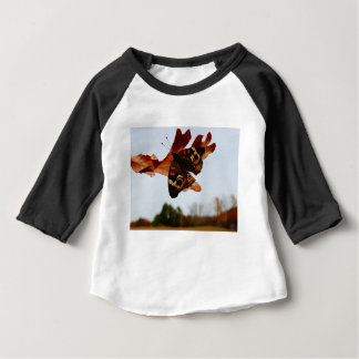 orange Butterfly  with blue spots Baby T-Shirt