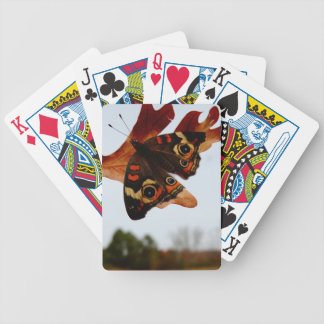 orange Butterfly  with blue spots Bicycle Playing Cards