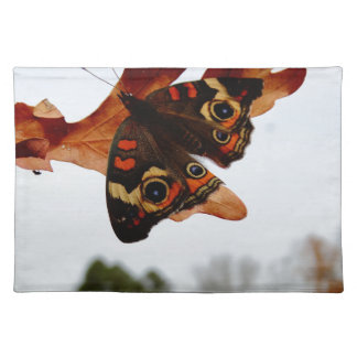 orange Butterfly  with blue spots Placemat