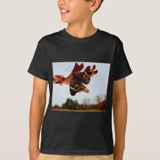 orange Butterfly  with blue spots T-Shirt
