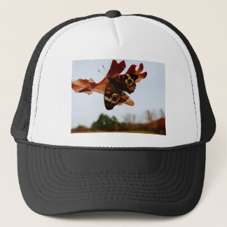 orange Butterfly  with blue spots Trucker Hat