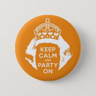 Orange button 30 April - Keep calm and party on