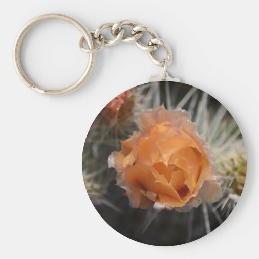 Orange Cactus Blossom keychain
