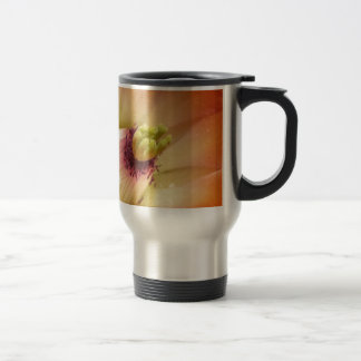 Orange Cactus Flower Travel Mug