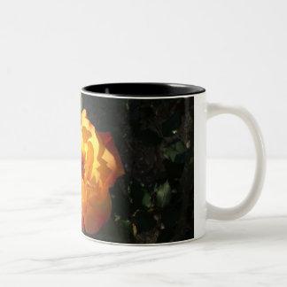 Orange Cali rose mug