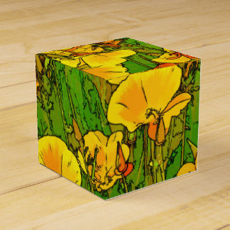 Orange California Poppies 2.2.2 Favor Box