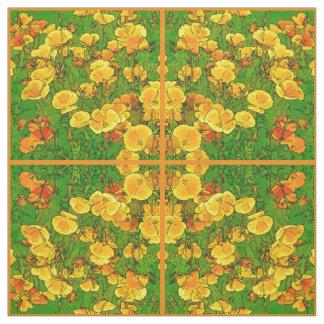 Orange California Poppies 2.2.2.o Fabric