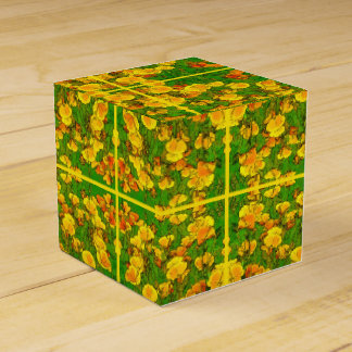 Orange California Poppies 2.2.4.y Favor Box