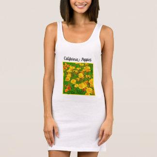 Orange California Poppies 2.2.7.y(P) Sleeveless Dress