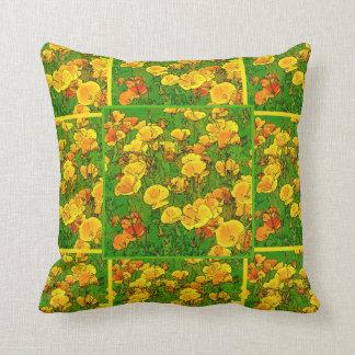 Orange California Poppies 2.2.7.y Throw Pillow