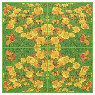 Orange California Poppies 2.2.g Fabric