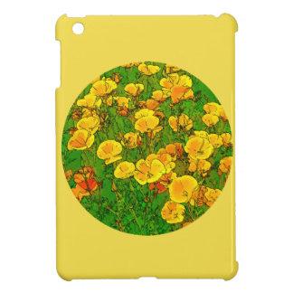 Orange California Poppies 2.2_rd iPad Mini Cover