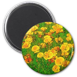 Orange California Poppies 2.2_rd Magnet