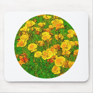 Orange California Poppies 2.2_rd Mouse Pad