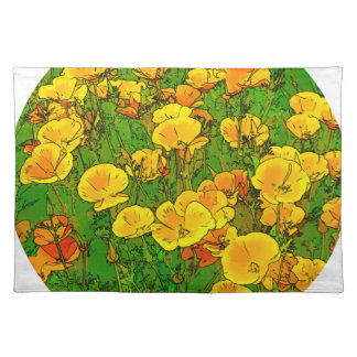 Orange California Poppies 2.2_rd Placemat