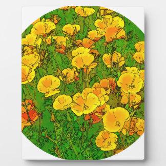 Orange California Poppies 2.2_rd Plaque