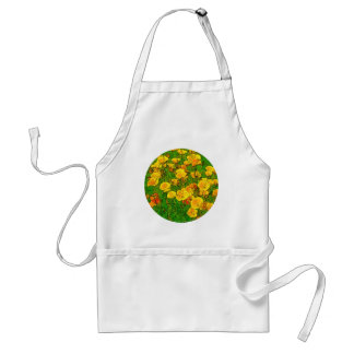 Orange California Poppies 2.2_rd Standard Apron