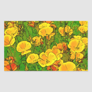 Orange California Poppies 2.2_rd Sticker