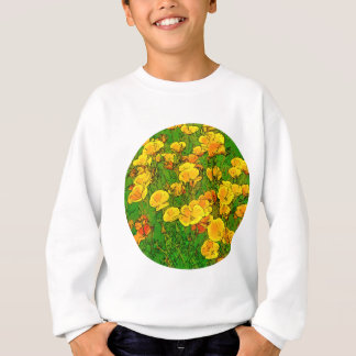 Orange California Poppies 2.2_rd Sweatshirt