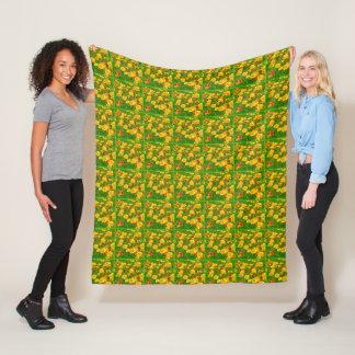 Orange California Poppies 2.9.g Fleece Blanket